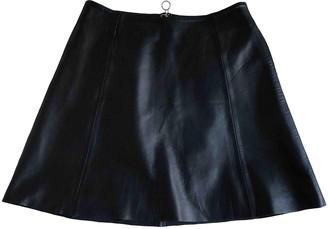 Veda Black Leather Skirt for Women