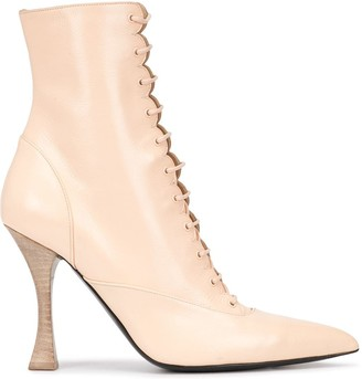 Tabitha Simmons x Brock Collection lace-up booties