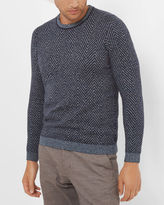 UNCLE Herringbone crew neck sweater