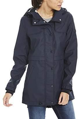Bench Women's Bonded Slim Rainjacket Raincoat,Medium