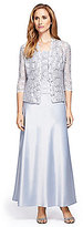 Alex Evenings Lace & Charmeuse Jacket Dress