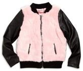Design History Toddler's & Little Girl's Faux Fur Bomber Jacket