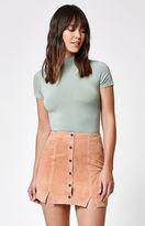 Obey Soho Suede Mini Skirt