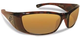 Flying Fisherman Boca Grande Polarized Sunglasses, Tortoise Frame, Amber Lens