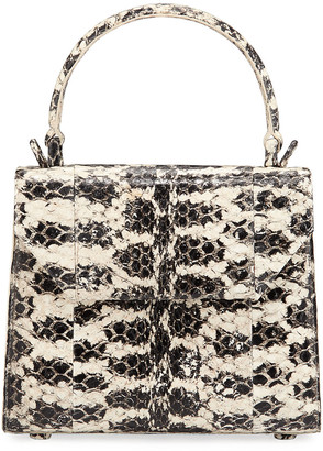 Nancy Gonzalez Lily Mini Snake & Crocodile Top-Handle Bag