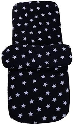 Clair De Lune Star Fleece Pushchair Footmuff, Grey