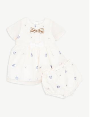 Hucklebones London Floral bow shell dress 6-36 months