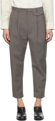 Deveaux SSENSE Exclusive Taupe Wyatt Trousers