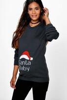 boohoo Maternity Esme Santa Baby Christmas Jumper