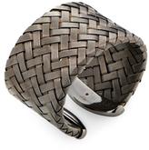 Roberto Coin Blackened Silver Woven Wide Cuff Bracelet