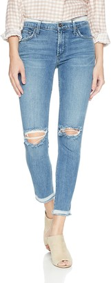 James Jeans Women's J Twiggy Mid Rise Ankle Length Jean in Skinny Dip 27
