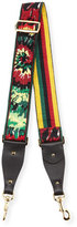 Valentino Tie-Dye Embroidered Guitar Strap for Handbag, Army