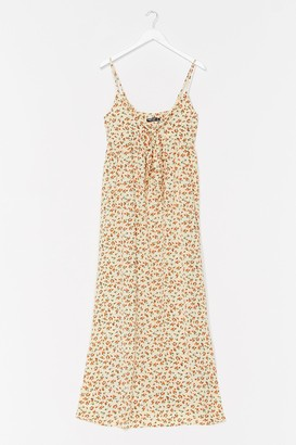 Nasty Gal Womens Rose Above It All Floral Maxi Dress - White - 6
