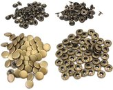 ReFaXi 50 Pcs 12mm Vintage Bronze Metal Snap Press Fasteners Sewing Buttons Studs New