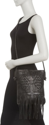 Cut N' Paste Harper Fringe Trim Leather Crossbody Bag