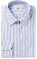 Dunhill Blue Slim-fit Striped Cotton-poplin Shirt - Blue