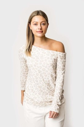 Gibson Mary Cozy Fleece Off the Shoulder Top