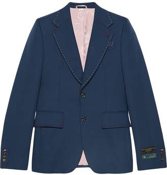 Gucci Drill jacket with stitching