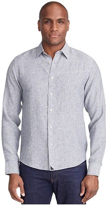 UNTUCKit Strausse - Wrinkle Resistant (Gray) Men's Long Sleeve Button Up