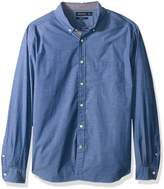 Nautica Men's Classic Fit Stretch Solid Long Sleeve Button Down Shirt Shirt,