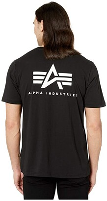Alpha Industries Small Logo Tee (Black) Clothing