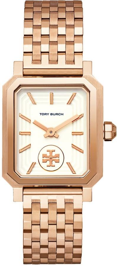 Tory Burch Robinson Watch, Rose Gold-Tone/Cream, 27 X 29 MM