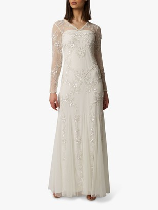 Raishma Minnie Embroidered Bridal Gown, Off White