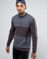 Asos Sweatshirt With Cut & Sew