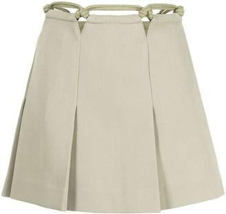 Dion Lee Macrame-Detail Mini Skirt