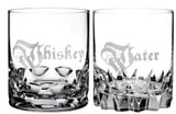 Waterford Short Stories Whiskey & Water Set of 2 Lead Crystal Double Old Fashioned Glasses