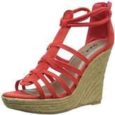Qupid Women's Resort-23 Wedge Sandal