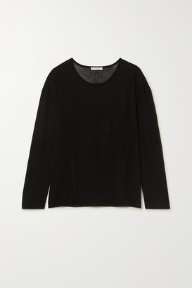 The Row Emilia Cotton Top - Black