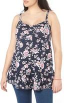 Evans Plus Size Women's Print Frill Hem Camisole
