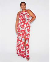 Express floral high slit maxi dress