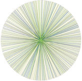 Tisch New York Graphic Lines Coaster-WHITE, GREEN
