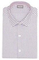 Kenneth Cole Reaction Men's Technicole Slim-Fit Gingham Spread Collar Dress Shirt