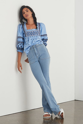Pilcro And The Letterpress Pilcro The Icon Flare Jeans By in Blue Size 0