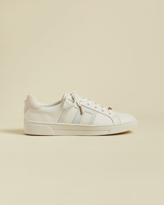 Ted Baker Leather Perforated T Detail Trainers