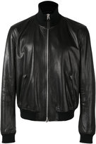Tom Ford leather bomber jacket - men - Lamb Skin/Rayon/Cotton - 48