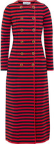 Sonia Rykiel Striped knitted double-breasted coat