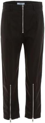 Prada Zip Detail Peg Trousers