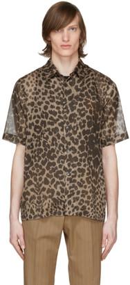 Dries Van Noten Brown and Beige Leopard Shirt