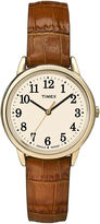 Timex Easy Reader Womens Brown Leather Strap Watch TW2P688009J