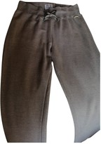 Woolrich Grey Cotton Trousers for Women