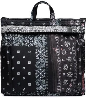 Neighborhood Bandana Print Tote Bag