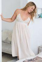 aerie Crochet Midi Dress