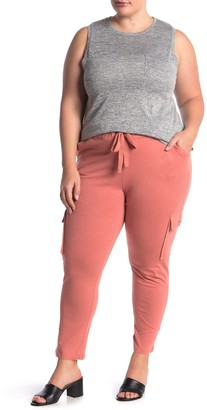 Planet Gold Solid Knit Drawstring Joggers (Plus Size)
