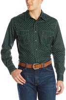 Cinch Men's Modern Fit Long Sleeve Print Shirt with Double Pocket Snap Front and Octagon Marble Snaps