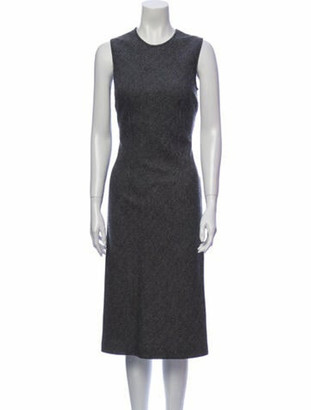 Dolce & Gabbana Crew Neck Midi Length Dress Grey
