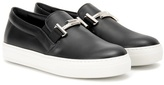 Tod's Sportivo Double T Leather Slip-on Sneakers